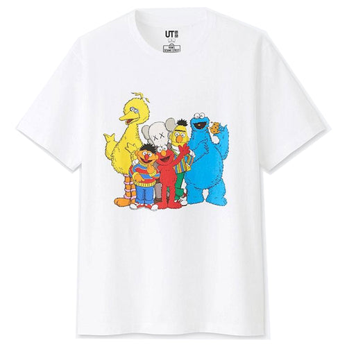 Kaws x Sesame Street Graphic T-Shirt By Uniqlo - White