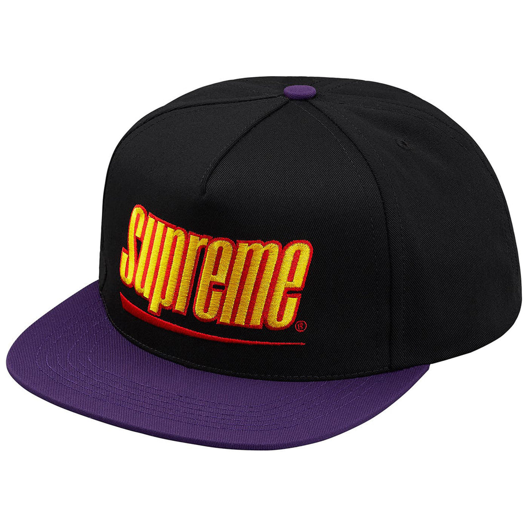 Supreme Underline 5 Panel Hat - Black