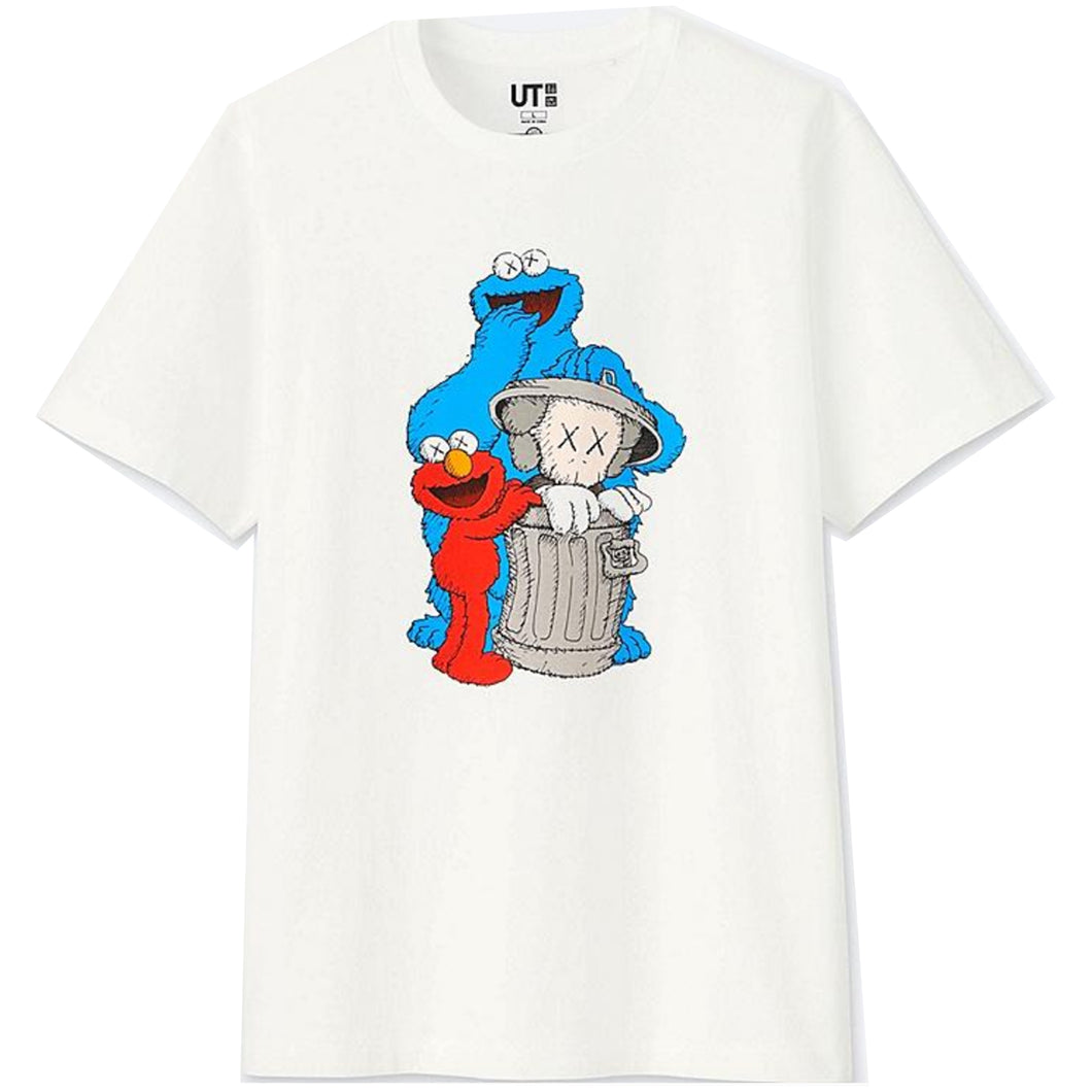 Uniqlo Sesame Street x Kaws Graphic T-Shirt - White