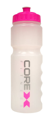 CoreX Fitness Water Bottle - Clear/Pink or Clear/Blue