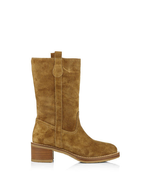 Madame 4170 Tan Suede Calf Boots