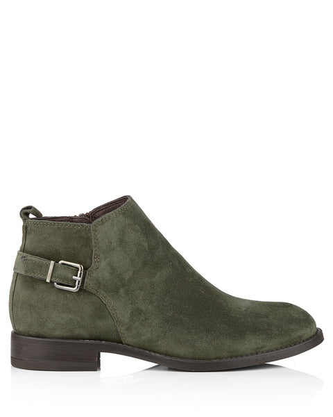 Melania 4312 Forest Green Suede Ankle Boots