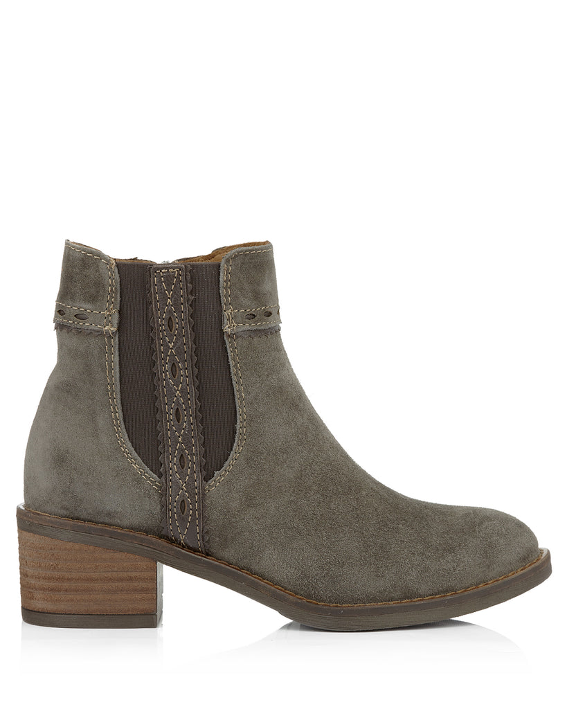 Nelly 4442 Taupe Suede Ankle Boots
