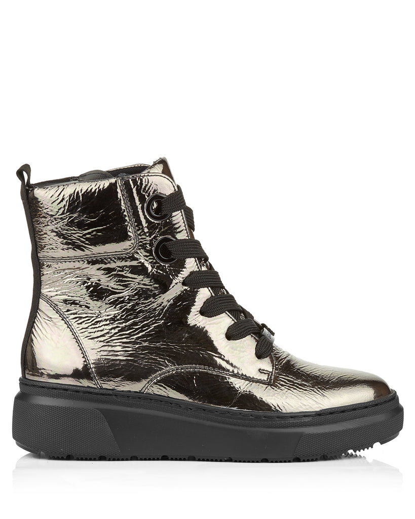 Lausanne 24348 Soft Titanium Patent Leather Boots