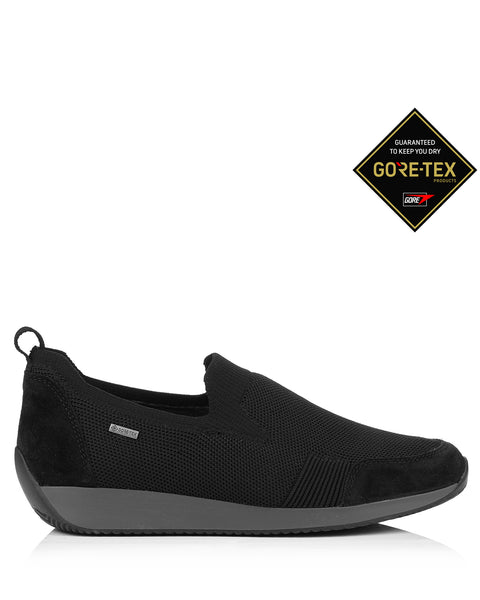 Lissabon 44061 Black Gore Tex Slip On Trainers