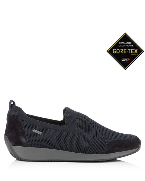 Lissabon 44061 Navy Gore Tex Slip On Trainers