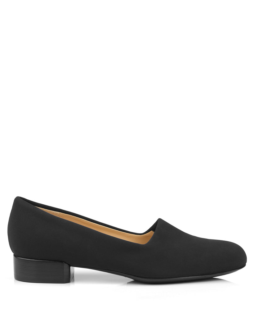 Tessuto Black Stretch Pumps