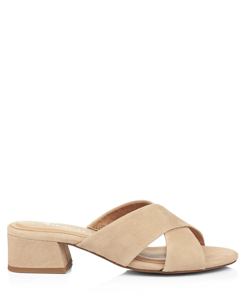 Crossover 27235 Ivory Suede Sandal