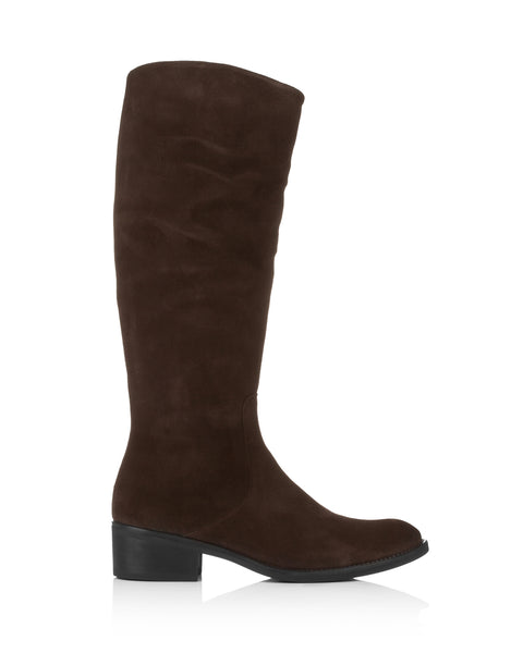 Tirol Brown Suede Riding Boots