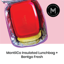 Load image into Gallery viewer, MontiiCo Insulated Cooler Lunch Bags (Best for school/Kinder)