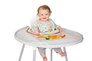 tiny tot tidy tot australia food catcher baby chair tray bib smock baby lead weaning