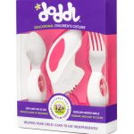 Doddl Toddler Cutlery Set (Spoon, Fork and Knife) for Children - three colours