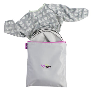 Tidy Tot BIB and TRAY Set in DOVE GREY with TRAVEL BAG