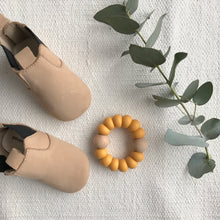 Load image into Gallery viewer, Astandco AST + CO teething toy teethers mustard olive marble white tidy tot melbourne Australian handmade baby toy gift shop small