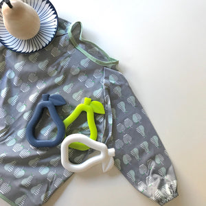 Pear melbourne australia toy baby gift teether astandco AST + CO pear hello little bead tidy tot bib art smock online ast and co