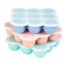 Load image into Gallery viewer, Wean Meister Silicone Freezer Pods for homemade baby food and baking