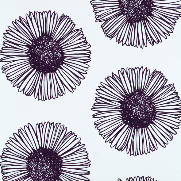 WALLPAPER MARGUERITE 02 PRUNE