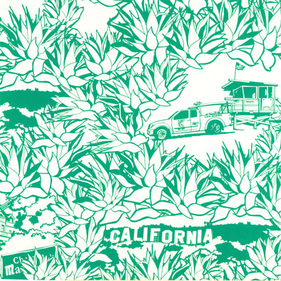 WALLPAPER CALIFORNIA EMERAUDE