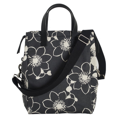 tote fleurs de passion anthracite france paris