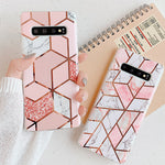 Geometric Pink Pattern Samsung Galaxy Case