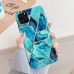 Geometric Blue Marble iPhone Case