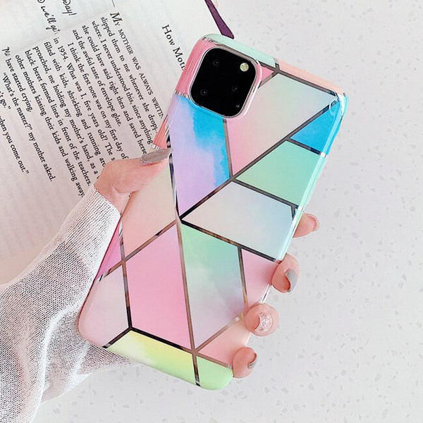Rainbow Geometric Pattern iPhone Case