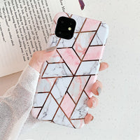 Geometric Marble Pattern iPhone Case
