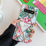 Flowers & Leaves Geometric Pattern Samsung Galaxy Case