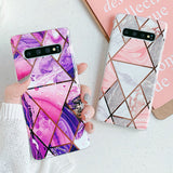 Geometric Purple Marble Samsung Galaxy Case