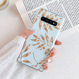 Golden Leaves Transparent Samsung Galaxy Case