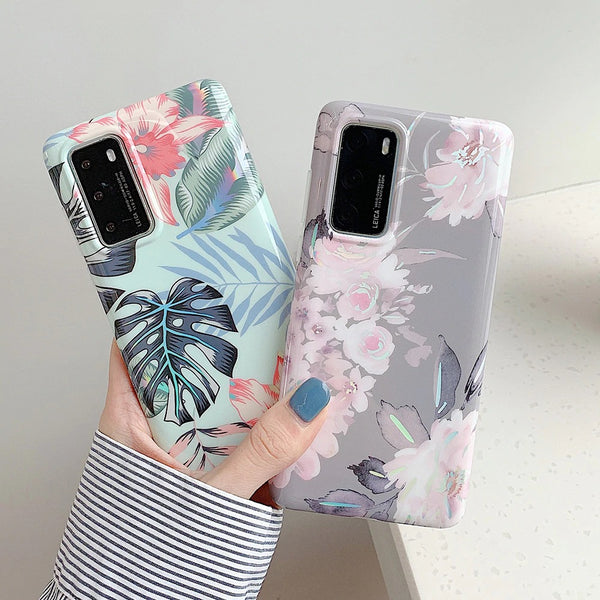 Laser Flowers Samsung Galaxy Case