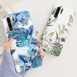 Blue & White Flowers Huawei Case