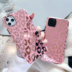 Golden Leopard Print iPhone Case