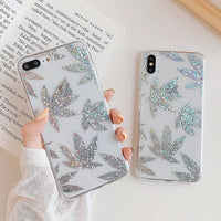 Sparkling Leaves iPhone Case