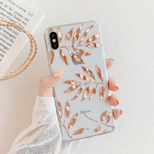 Gold Leaves iPhone Case