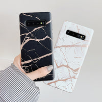 Marble With Gold Cracks Samsung Galaxy Case