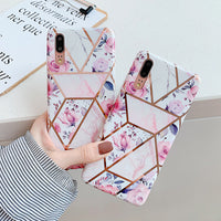 Flowers Geometric Pattern Huawei Case