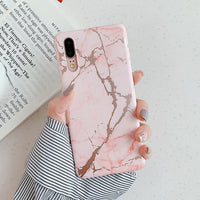 Marble With Gold Cracks Huawei Case