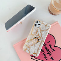 Golden Leaves iPhone Case + Ring Holder