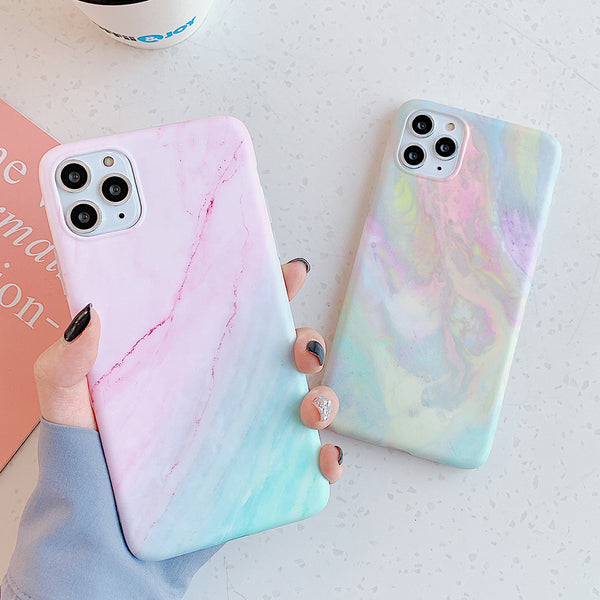 Colorful Marble Texture iPhone Case