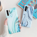 Blue & Green Marble Huawei Case