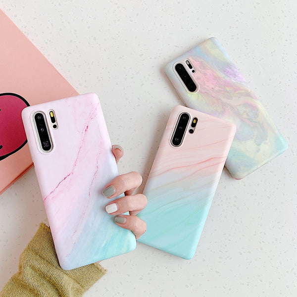 Colorful Marble Texture Huawei Case