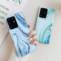 Blue & Green Marble Samsung Galaxy Case
