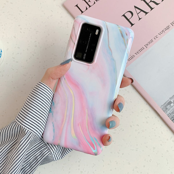 Coque Huawei Texture Marbre Laser