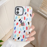 Colorful Paint Strokes Anti-knock iPhone Case
