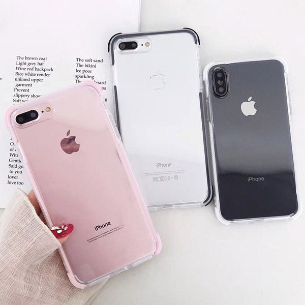 Elegant Anti-knock Transparent iPhone Case