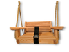 "Wood Toddler Swing . Seat Measures 13"" wide , has a safety bar. This wood toddler swing is made for those small toddlers. It is made of Cypress Wood. Free Shipping USA only"