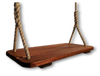 "Mahogany Wood Tree Swing measures 24"" x 9 1/2"" x 1 1/12"". Wood Tree Swing corners and edges have been rounded and sanded. Free Shipping"