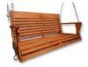"Red Oak Wood Porch Swing Measures 48"" Wide. We have reinforced areas of the Larger Porch Swing that would weaken over time. Free Shipping"