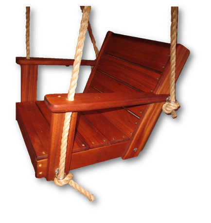 "Mahogany Chair Tree Swing / 16"" Seat"